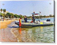 Cannes Coast Patrol Acrylic Print