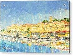 Cannes Harbour Acrylic Print
