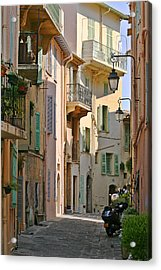 Cannes - Le Suquet - France Acrylic Print by Christine Till