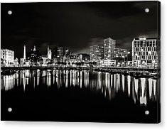Canning Dock Liverpool Acrylic Print by Wayne Molyneux