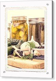 Canning Kitchen Art Acrylic Print by Edward Fielding
