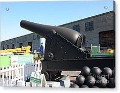 Cannon At Alcatraz Landing At The San Francisco Embarcadero 5d25960 Acrylic Print by Wingsdomain Art and Photography