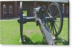 Cannon At Fort Pulaski Main Entrance Acrylic Print by D Wallace