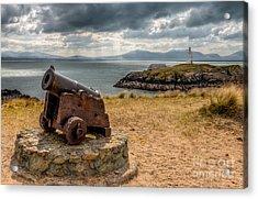 Cannon At Llanddwyn  Acrylic Print by Adrian Evans