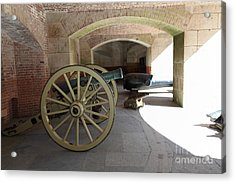 Cannon At San Francisco Fort Point 5d21495 Acrylic Print by Wingsdomain Art and Photography