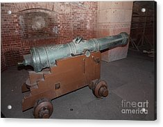Cannon At San Francisco Fort Point 5d21503 Acrylic Print by Wingsdomain Art and Photography