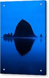 Cannon Beach Blue Acrylic Print