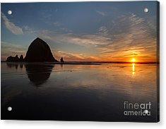 Cannon Beach Evening Serenity Acrylic Print