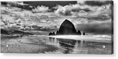 Cannon Beach On The Oregon Coast Acrylic Print by David Patterson
