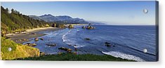 Cannon Beach Panorama Acrylic Print by Andrew Soundarajan