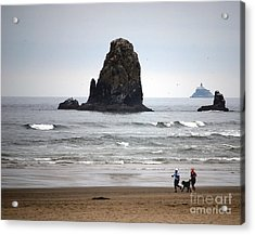 Cannon Beach Run Acrylic Print by Sharon Elliott
