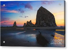 Cannon Beach Seastacks Acrylic Print