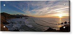 Cannon Beach Sunset Acrylic Print by Mike Reid
