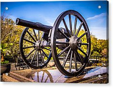 Cannon In New Orleans Washington Artillery Park Acrylic Print