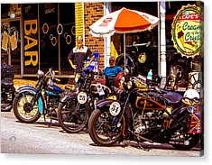 Cannonball Motorcycle Colors Acrylic Print