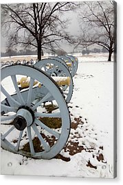 Acrylic Print featuring the photograph Cannon's In The Snow by Michael Porchik