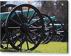 Cannons Of Manassas Battlefield Acrylic Print