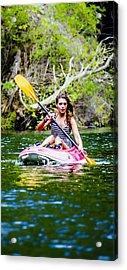 Canoe For Girls Acrylic Print by Sotiris Filippou