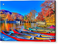 Canoe In Waiting Acrylic Print
