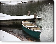 Canoe In Winter Acrylic Print
