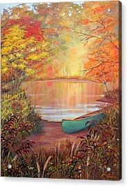 Canoe Landing  Acrylic Print by John Samsen