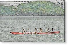 Canoe Practice Acrylic Print by Scott Cameron