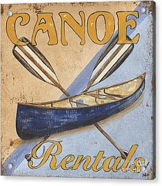 Canoe Rentals Acrylic Print by Debbie DeWitt
