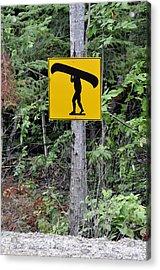 Canoe Sign. Acrylic Print by Fernando Barozza