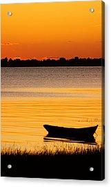 Canoe Sunrise Acrylic Print by Brian Magnier