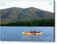 Canoeing Flagstaff Lake Acrylic Print