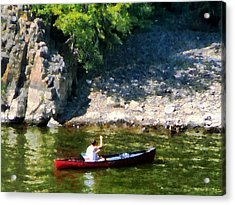 Canoeing In Paterson Nj Acrylic Print