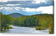 Canoeing The River Acrylic Print