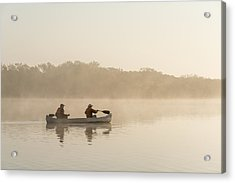 Canoeists At Dawn Everglades Np Florida Acrylic Print