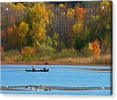 Canoer 2 Acrylic Print by Aimee L Maher Photography and Art Visit ALMGallerydotcom