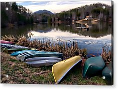 Canoes In Nc Acrylic Print