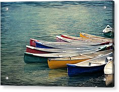 Canoes  Acrylic Print by Maria Angelica Maira