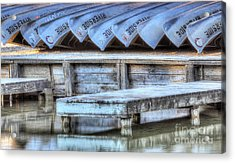 Canoes Ready For Dispatch Acrylic Print