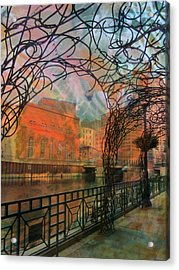 Canopy Riverwalk And Abstract Painting Acrylic Print