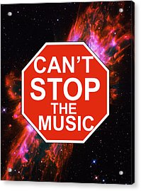 Can't Stop The Music Acrylic Print by Andrew Hunt