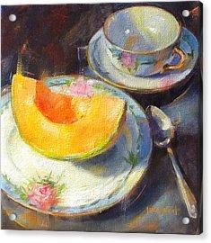 Cantalope On Fruit Plate Acrylic Print