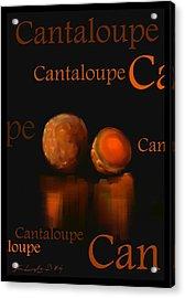 Cantaloupe - Fruit And Veggie Series - #4 Acrylic Print by Steven Lebron Langston