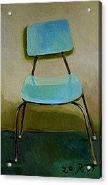 Canteen Chair Acrylic Print by Raimonda Jatkeviciute-Kasparaviciene
