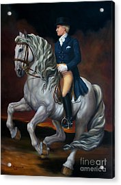 Canter Pirouette Acrylic Print by Lisa Phillips Owens