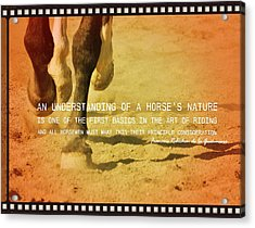 Cantering Along Quote Acrylic Print by JAMART Photography