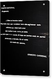 Canto Nacional  Acrylic Print