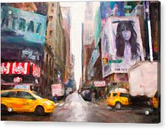 Canvas Roads Acrylic Print by Emmanouil Klimis