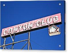 Canyon Club Acrylic Print