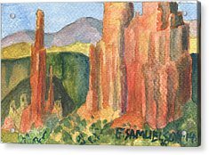 Canyon De Chelly Fantasy Acrylic Print