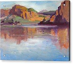 Canyon Lake Of Arizona Acrylic Print by Mitzi Lai