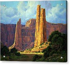 Canyon Light Acrylic Print by Randy Follis
